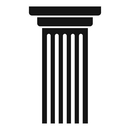 Italian column icon. Simple illustration of italian column vector icon for web.