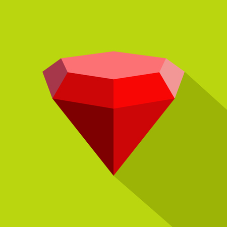 Triangular diamond icon. Flat illustration of triangular diamond vector icon for web. Reklamní fotografie - 92643054