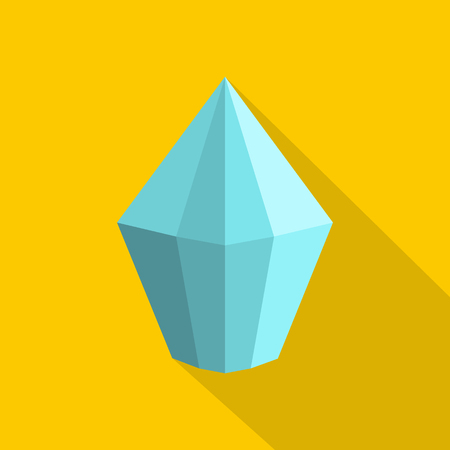 Cone shaped diamond icon. Flat illustration of cone shaped diamond vector icon for web.