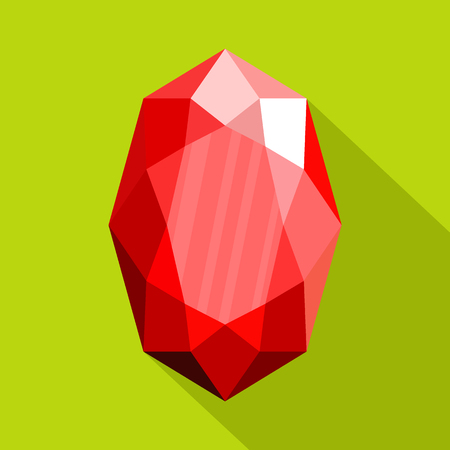 Red adamant icon flat illustration of red adamant vector icon for web.