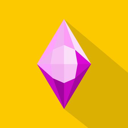 Iridescent stone icon. Flat illustration of iridescent stone vector icon for web. Vettoriali