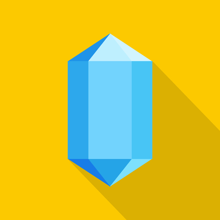 Blue diamond icon. Flat illustration of blue diamond vector icon for web.