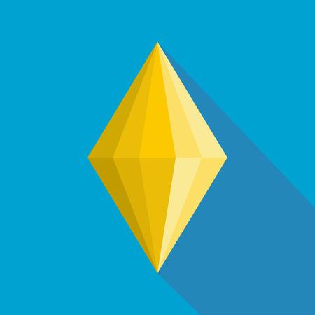 Faceted gem icon. Flat illustration of faceted gem vector icon for web. Illustration