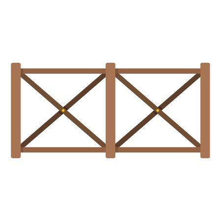 Fence in town icon. Flat illustration of fence in town vector icon for web.