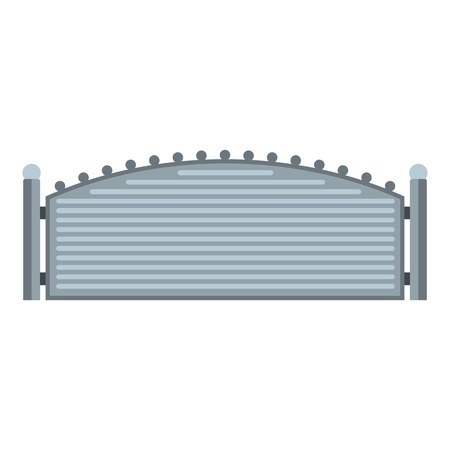 Metal fence icon flat illustration of metal fence vector icon for web. Vectores