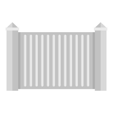 Steel fence icon flat illustration of steel fence vector icon for web.