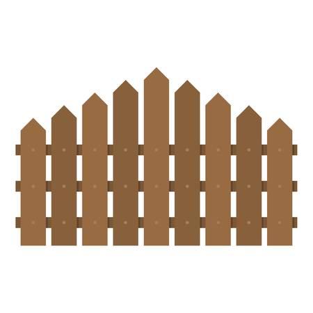 Triangular fence icon flat illustration of triangular fence vector icon for web. Illustration