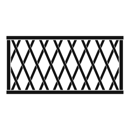 Fence icon. Simple illustration of fencevector icon for web.