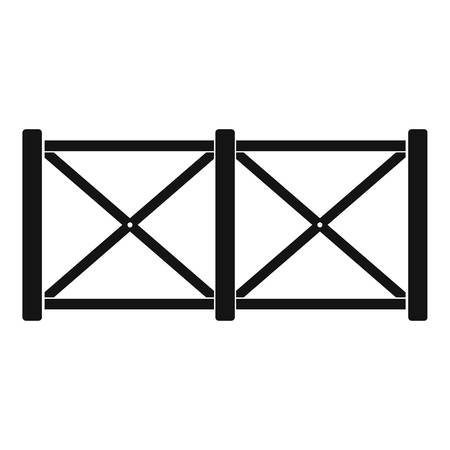 Fence in town icon. Simple illustration of fence in town vector icon for web.