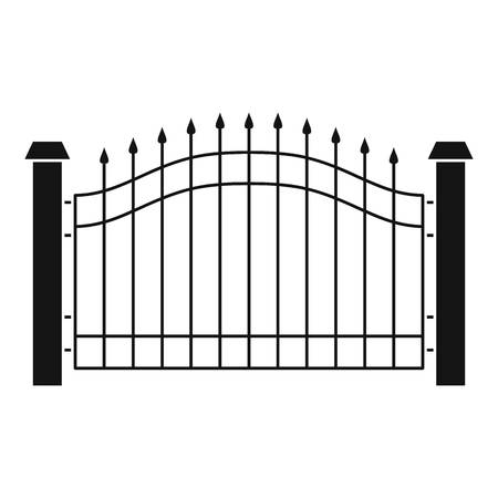 Park fence icon. Simple illustration of park fence vector icon for web. Illusztráció