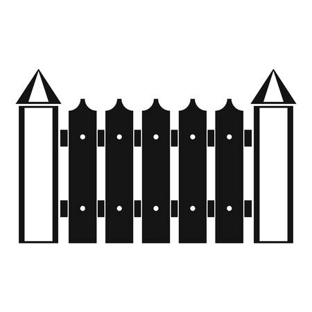 Garden fence icon. Simple illustration of garden fence vector icon for web.