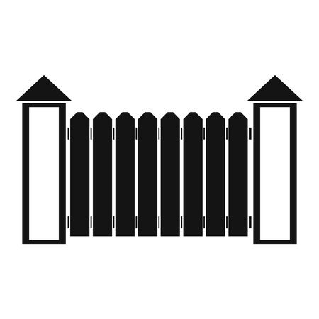 Fence with turret icon. Simple illustration of fence with turret vector icon for web.