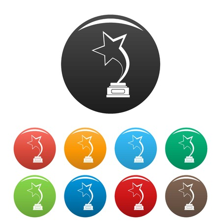 Star award icon. Simple illustration of star award vector icon isolated on white background Illustration