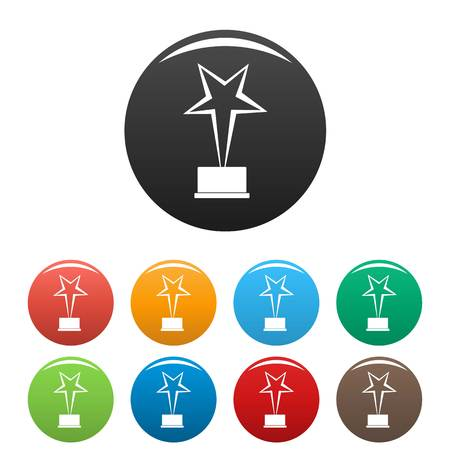 Star award icon. Simple illustration of star award vector icon isolated on white background.