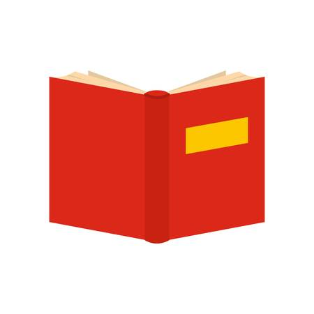 Flat illustration of book inverted vector icon isolated on white background. 向量圖像