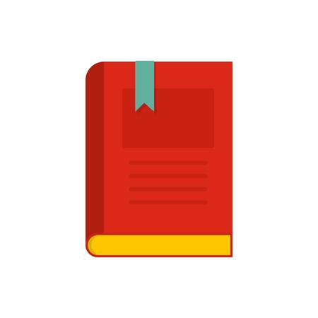 Bookstore icon. Flat illustration of bookstore vector icon isolated on white background