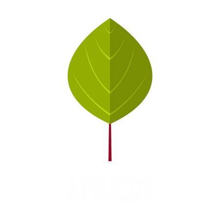 Apricot leaf icon. Flat illustration of apricot leaf vector icon isolated on white background Illustration