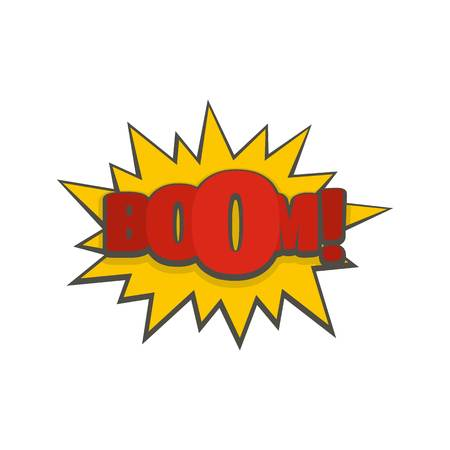 Comic boom big icon. Flat illustration of comic boom big vector icon isolated on white background Illustration