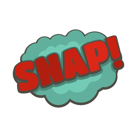 Comic boom snap icon. Flat illustration of comic boom snap vector icon isolated on white background