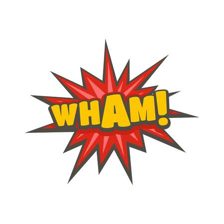 Comic boom wham icon. Flat illustration of comic boom wham vector icon isolated on white background Illustration