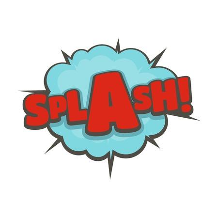 만화 붐 스플래시 아이콘입니다. 흰색 배경에 고립 된 만화 붐 스플래시 벡터 아이콘의 평면 그림