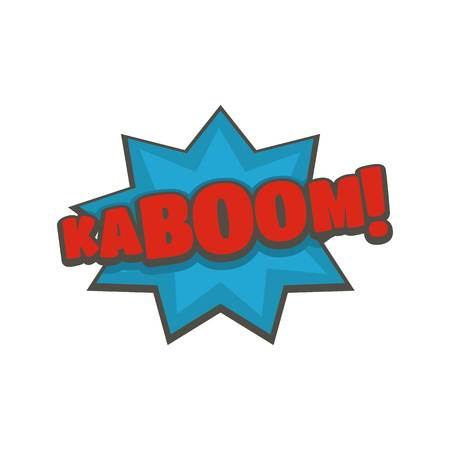 Comic boom kaboom icon. Flat illustration of comic boom kaboom vector icon isolated on white background