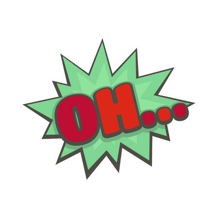 Comic boom oh icon. Flat illustration of comic boom oh vector icon isolated on white background Illustration