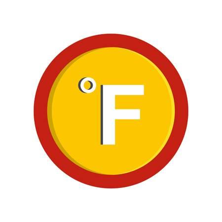 Fahrenheit icon. Flat illustration of fahrenheit vector icon isolated on white background