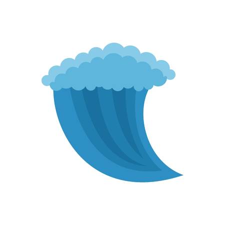 Wave water icon. Flat illustration of wave water vector icon isolated on white background