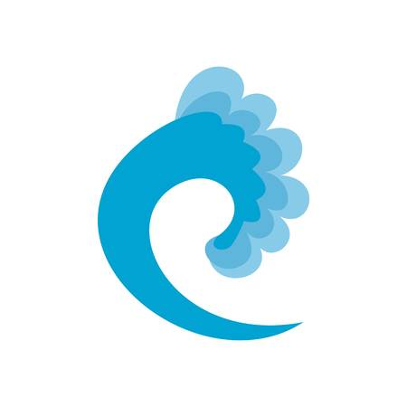 Wave ocean icon. Flat illustration of wave ocean vector icon isolated on white background