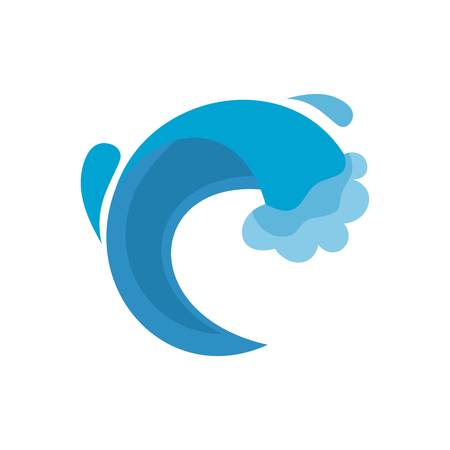 Wave sea icon. Flat illustration of wave sea vector icon isolated on white background Illustration