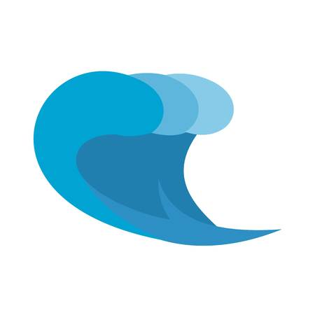 Wave surf icon. Flat illustration of wave surf vector icon isolated on white background