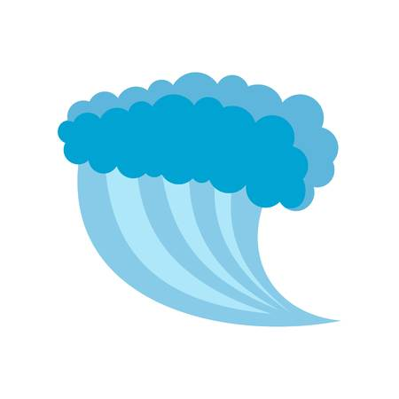 Wave water blue icon. Flat illustration of wave water blue vector icon isolated on white background
