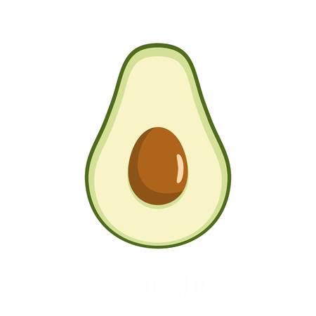 Flat illustration of avocado vector icon isolated on white background.
