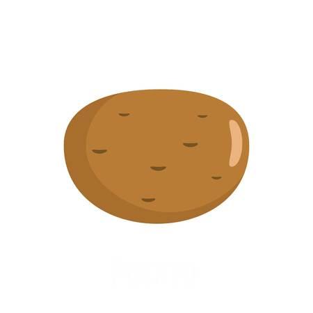 Potato icon. Flat illustration of potato vector icon isolated on white background Illustration