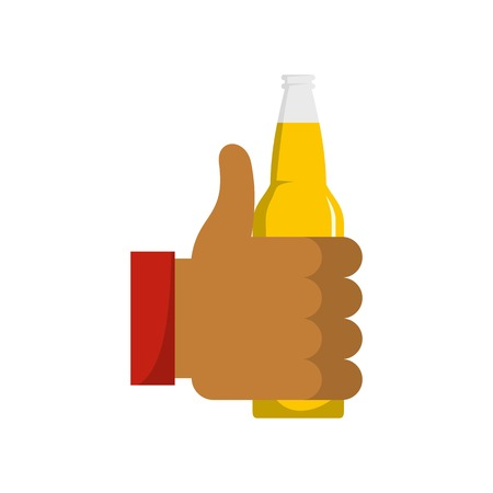 Beer icon. Flat illustration of beer vector icon isolated on white background. Illustration