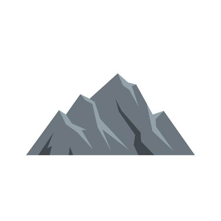 Extreme mountain icon. Flat illustration of extreme mountain vector icon. Isolated on white background. Banco de Imagens - 92810869