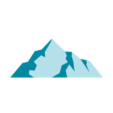 Ice mountain icon. Flat illustration of ice mountain vector icon. Isolated on white background. Banco de Imagens - 92810870