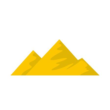 Climb on mountain icon. Flat illustration of climb on mountain vector icon. Isolated on white background. Ilustração