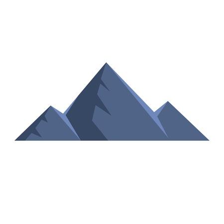 Mountain peak icon. Flat illustration of mountain peak vector icon. Isolated on white background.