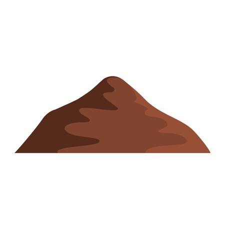 Asian mountain icon. Flat illustration of Asian mountain vector icon. Isolated on white background.
