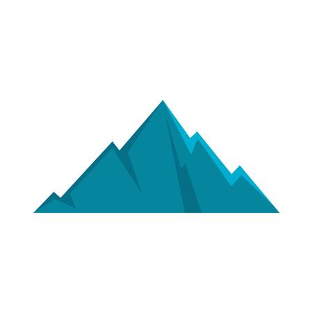 Pointing mountain icon. Flat illustration of pointing mountain vector icon isolated on white background.