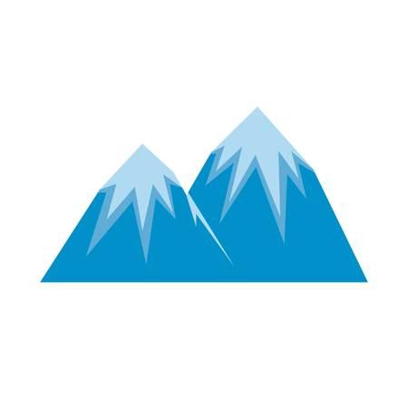 Snow peak icon. Flat illustration of snow peak vector icon isolated on white background