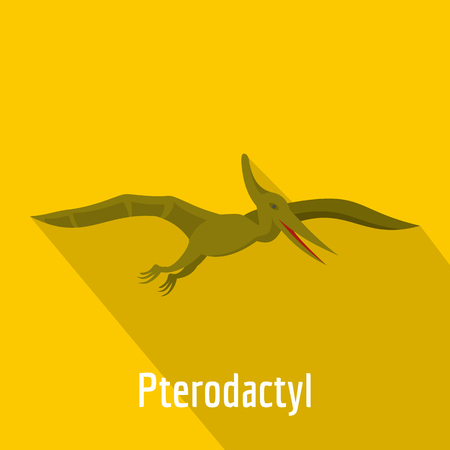 Pterodactyl icon. Flat illustration of pterodactyl vector icon for web.