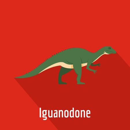 Iguanodone icon. Flat illustration of iguanodone vector icon for web.