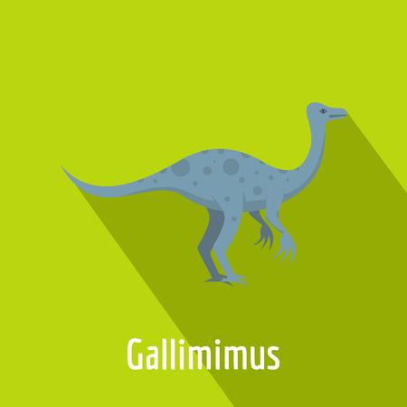 Flat illustration of Gallimimus vector icon