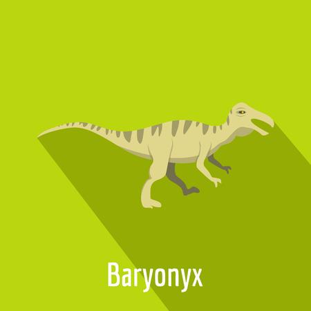 Baryonyx icon. Flat illustration of baryonyx vector icon for web.