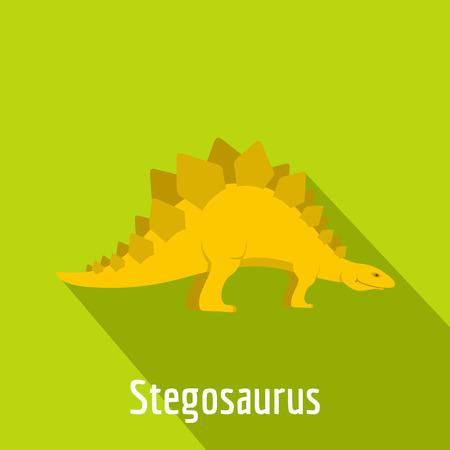 Stegosaurus icon. Flat illustration of stegosaurus vector icon for web. Illustration
