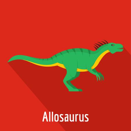 Flat illustration of Allosaurus vector icon
