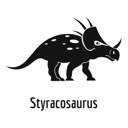 Styracosaurus icon. Simple illustration of styracosaurus vector icon for web.